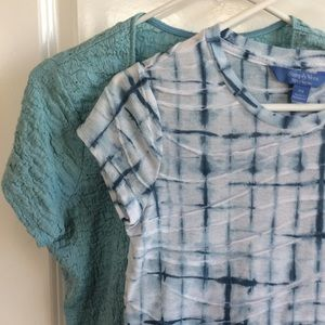 Aqua and Teal Tee Shirt Bundle